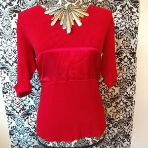 Red ribbed sweater size XL